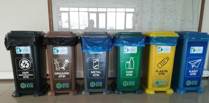 İzmit Belediyesinde çöp kutuları kalktı atık miktarı azaldı