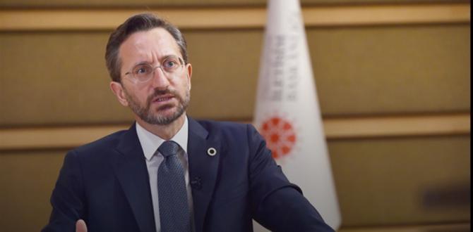 """Fahrettin Altun, """"Fransız Cumhurbaşkanı Macron'un İslam karşıtı söylem ve adımlarına"""" ilişkin bir açıklama yaptı."""