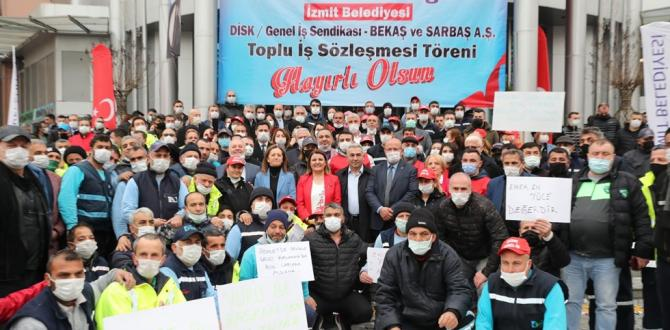 İzmit Belediyesi'nde toplu iş sözleşmesi imzalandı