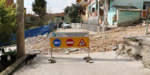 İzmit Belediyesinden Tavşantepe'de  beton yol mesaisi