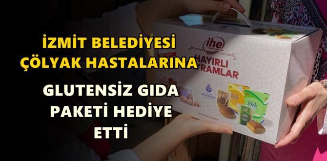 İzmit Belediyesi çölyak hastalarına glutensiz besin paketi hediye etti
