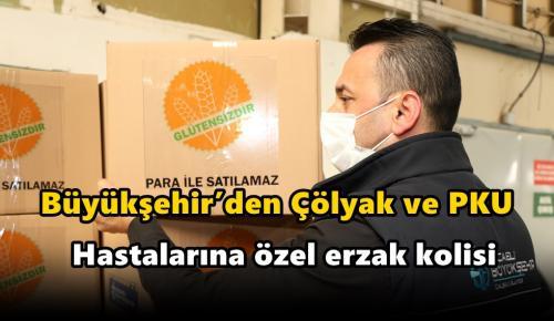 Büyükşehir'den Çölyak ve PKU hastalarına özel erzak kolisi