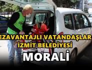 Dezavantajlı vatandaşlara İzmit Belediyesi morali
