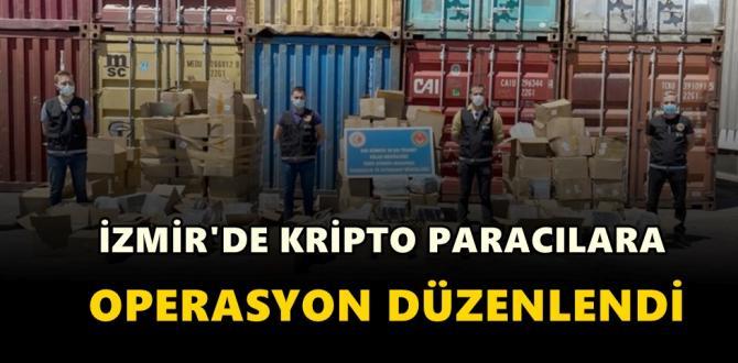 İzmir'de kripto paracılara operasyon düzenlendi