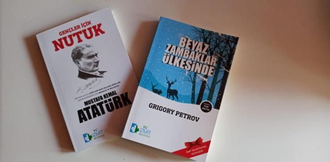 İzmit Belediyesinden çocuklara  'Beyaz Zambaklar Ülkesinde' ve 'Nutuk' kitapları hediye