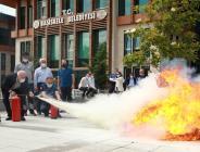 Başiskele Belediyesi Personeline Yangın Tatbikatı