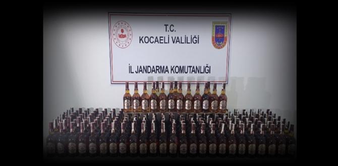Gebze'de sahte içki yakalandı
