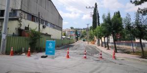 Darıca Körfez Caddesi'nde üstyapı çalışması