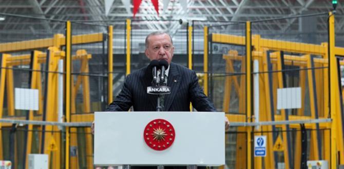 Cumhurbaşkanı Erdoğan, Şişecam Polatlı Yeni Üretim Hattı'nın açılışında yaptı